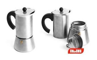 Современная гейзерная кофеварка для индукционной плиты